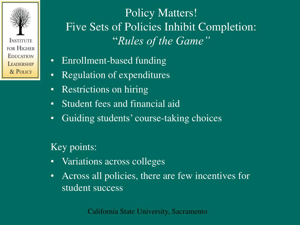 Policy Matters!