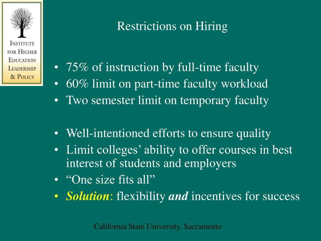 Restrictions on Hiring