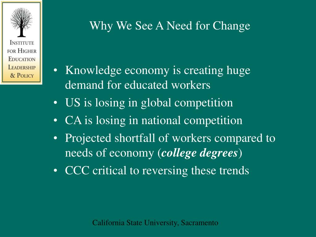 Why We See A Need for Change