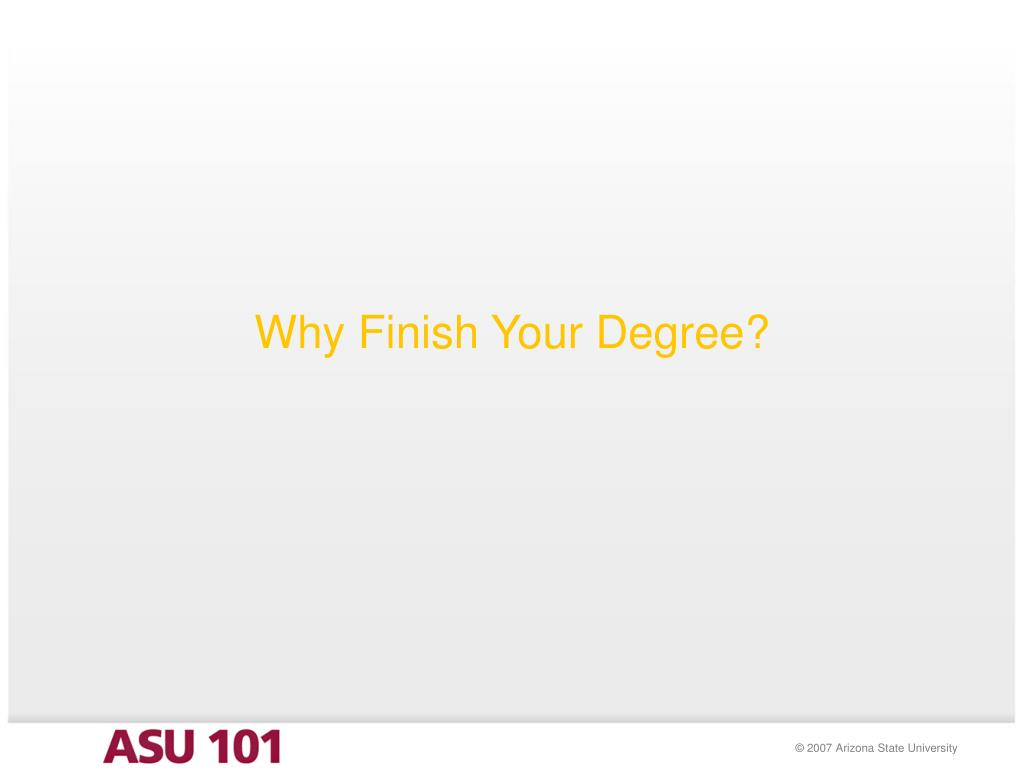 Why Finish Your Degree?