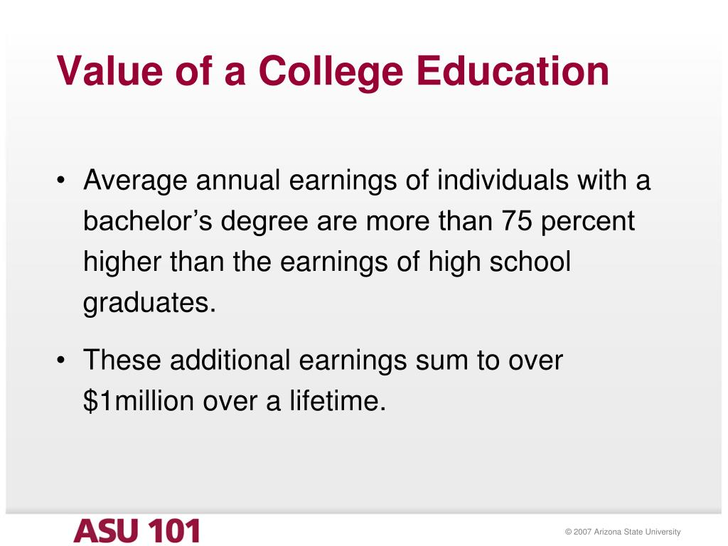 Value of a College Education