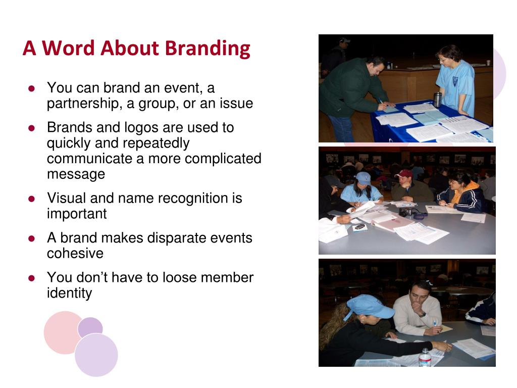 A Word About Branding