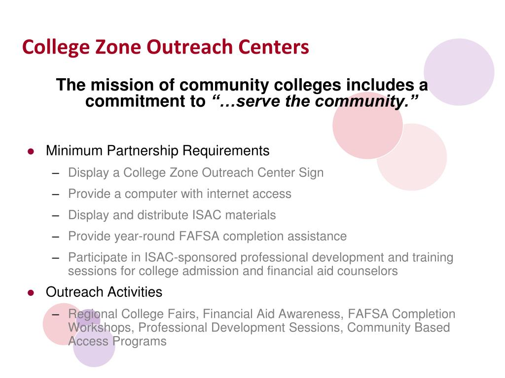 College Zone Outreach Centers