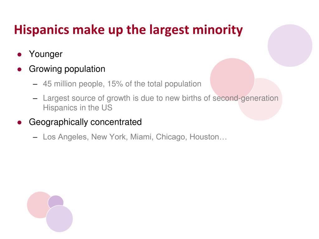 Hispanics make up the largest minority