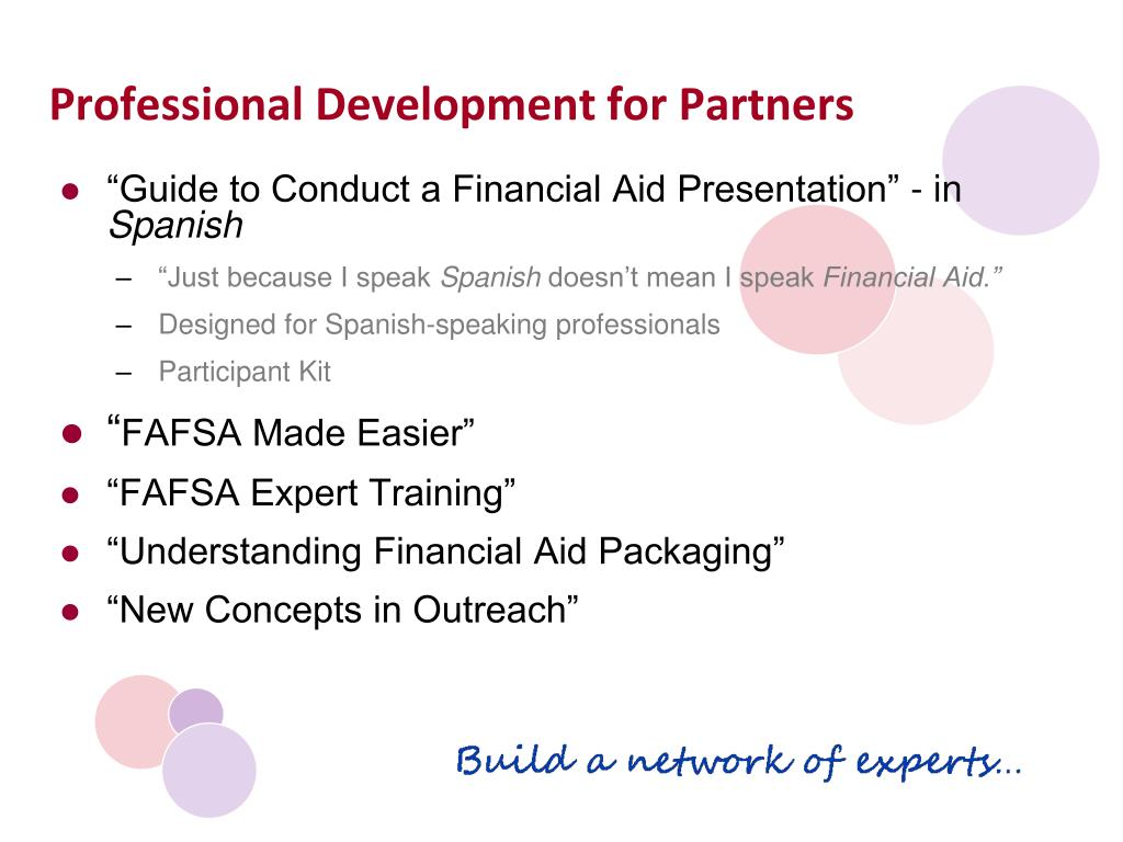 Professional Development for Partners