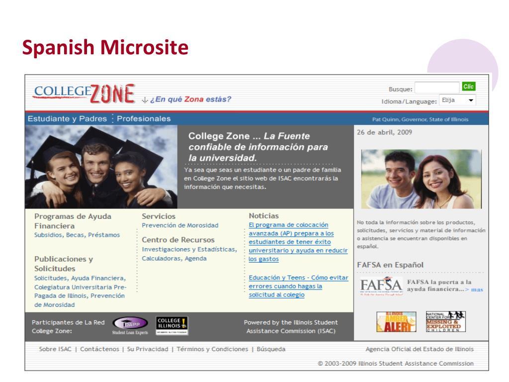 Spanish Microsite