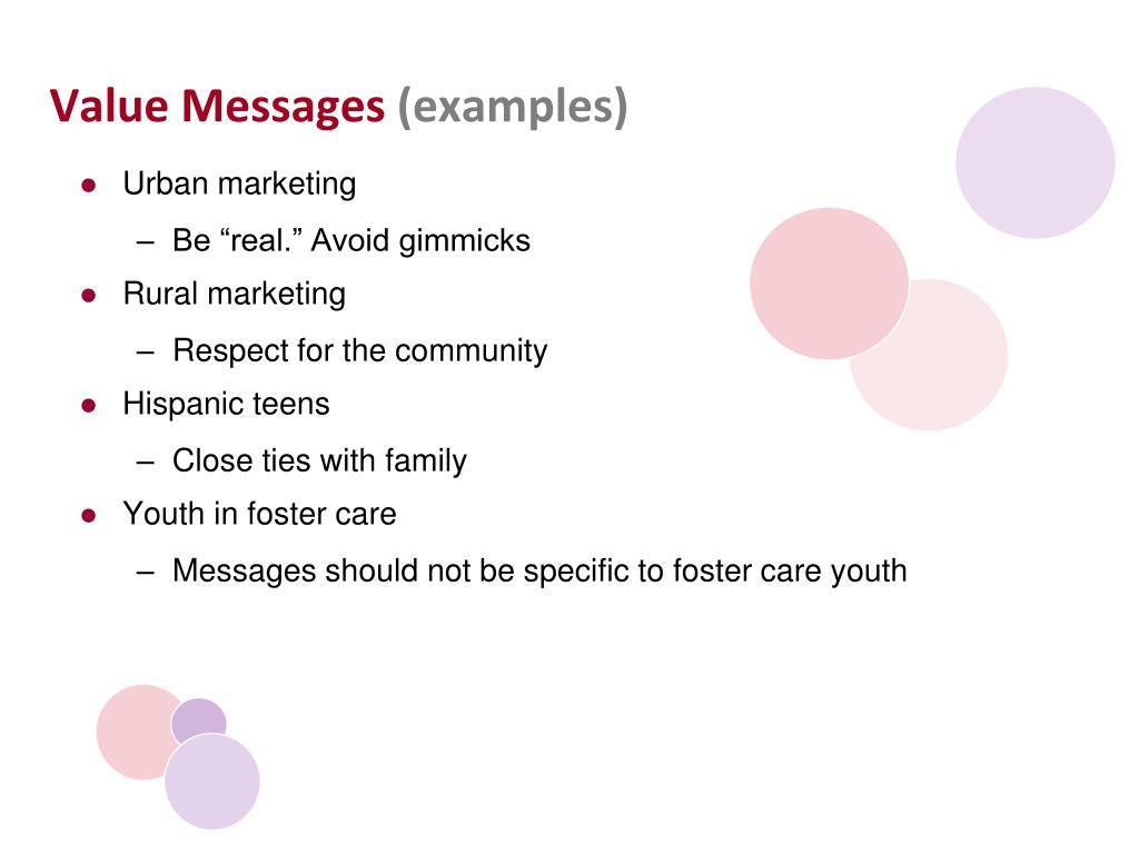 Value Messages