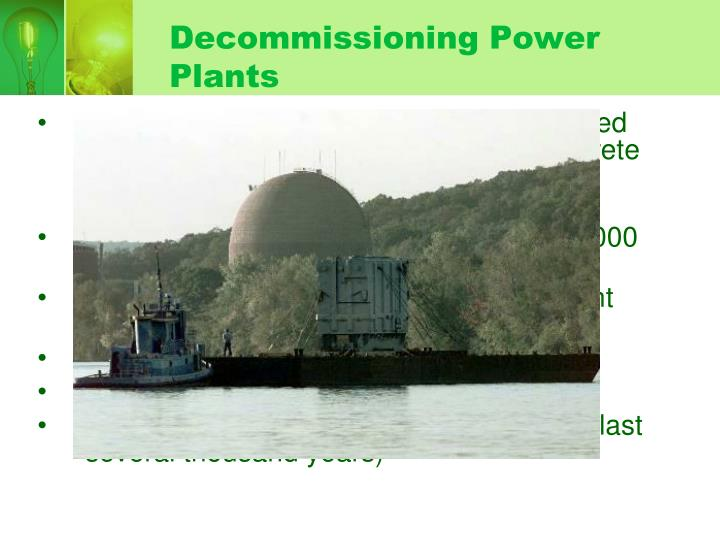 Decommissioning Power Plants