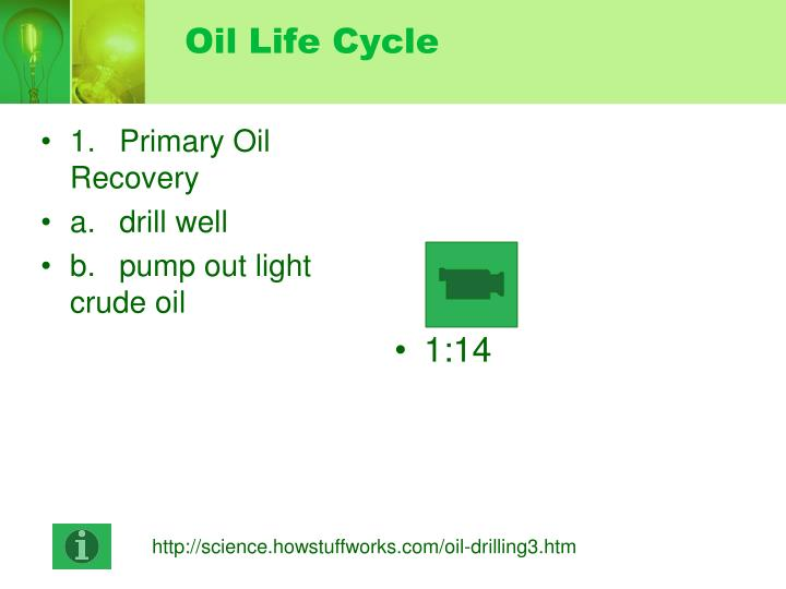 Oil Life Cycle