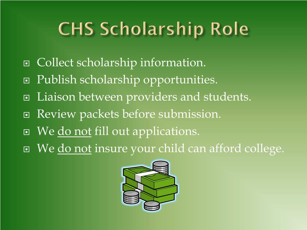 CHS Scholarship Role