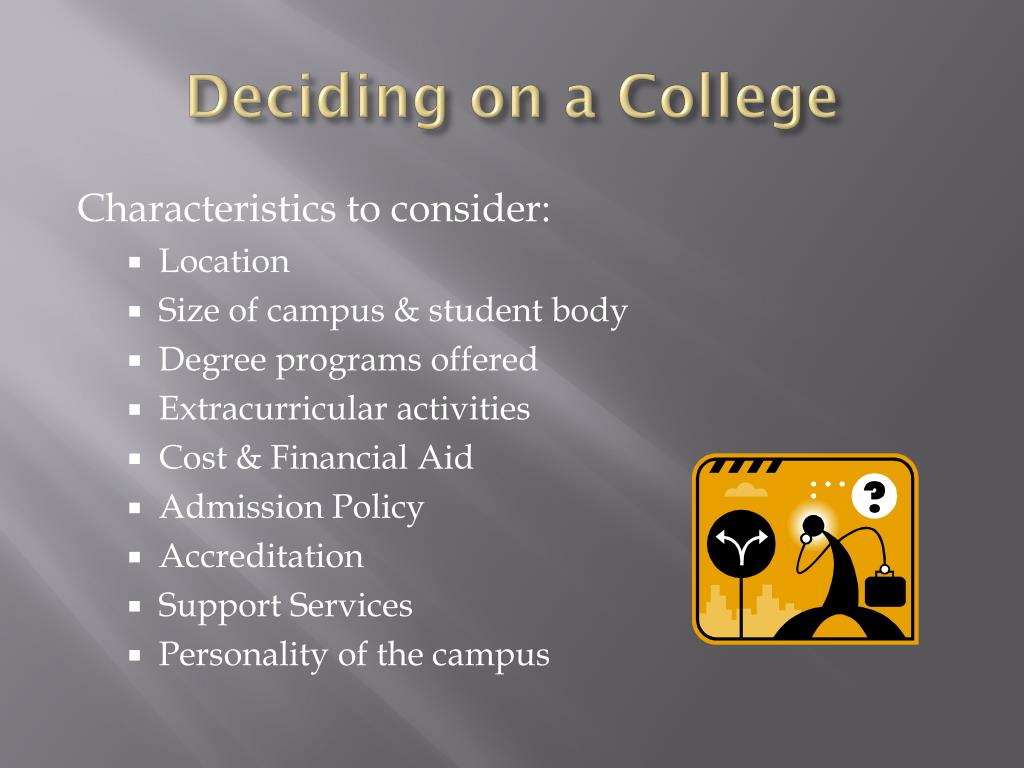 Deciding on a College