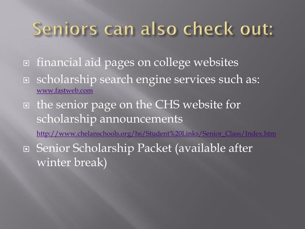 Seniors can also check out: