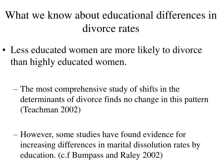 What we know about educational differences in divorce rates