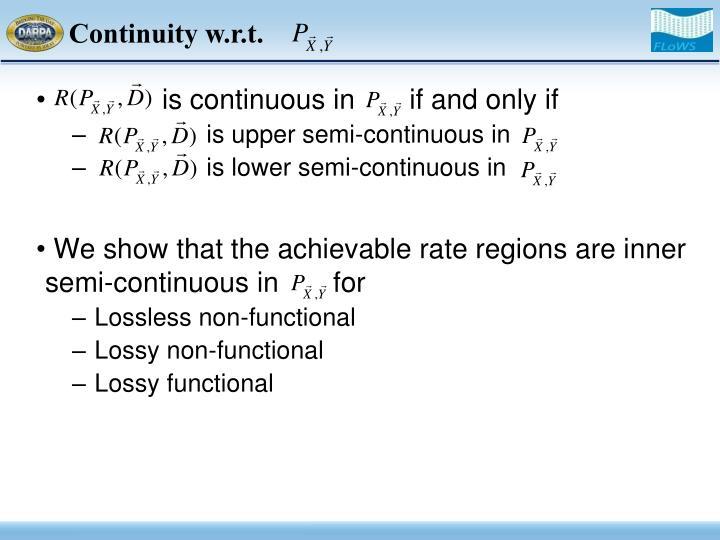 Continuity w.r.t.