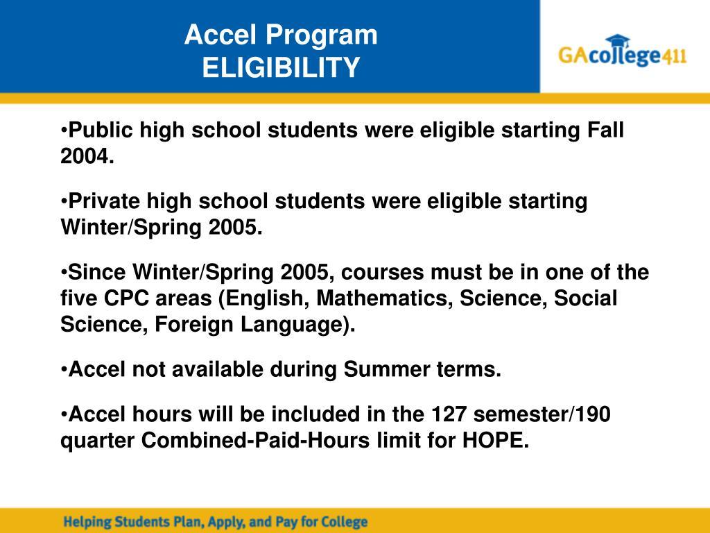 Accel Program