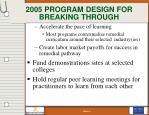 2005 program design for breaking through14