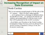 increasing recognition of impact on state economies