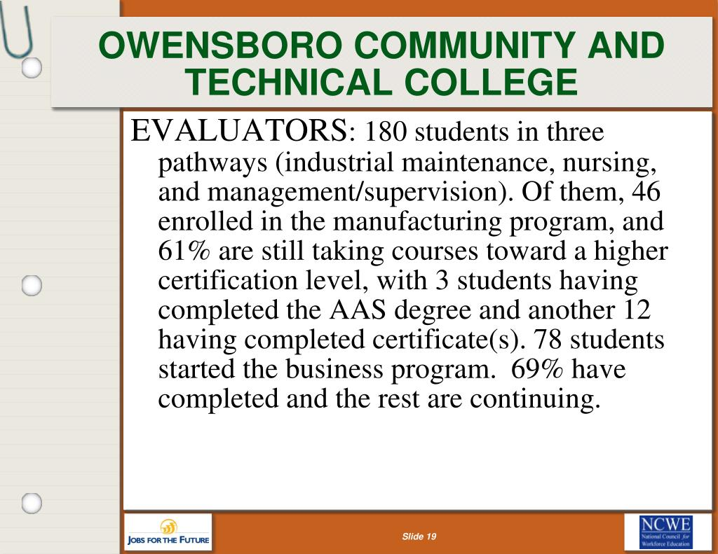OWENSBORO COMMUNITY AND TECHNICAL COLLEGE