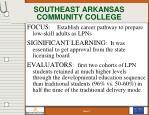 southeast arkansas community college