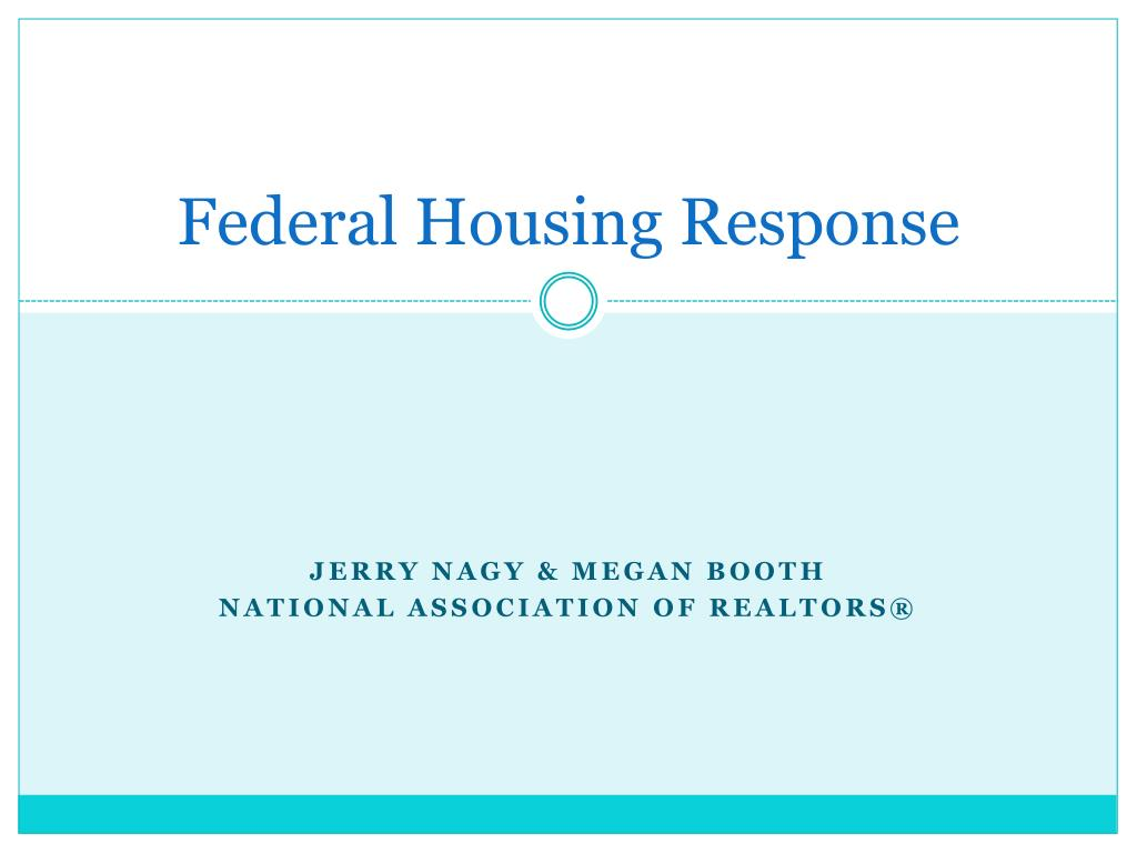 Federal Housing Response