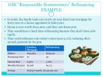 gse responsible homeowners refinancing example