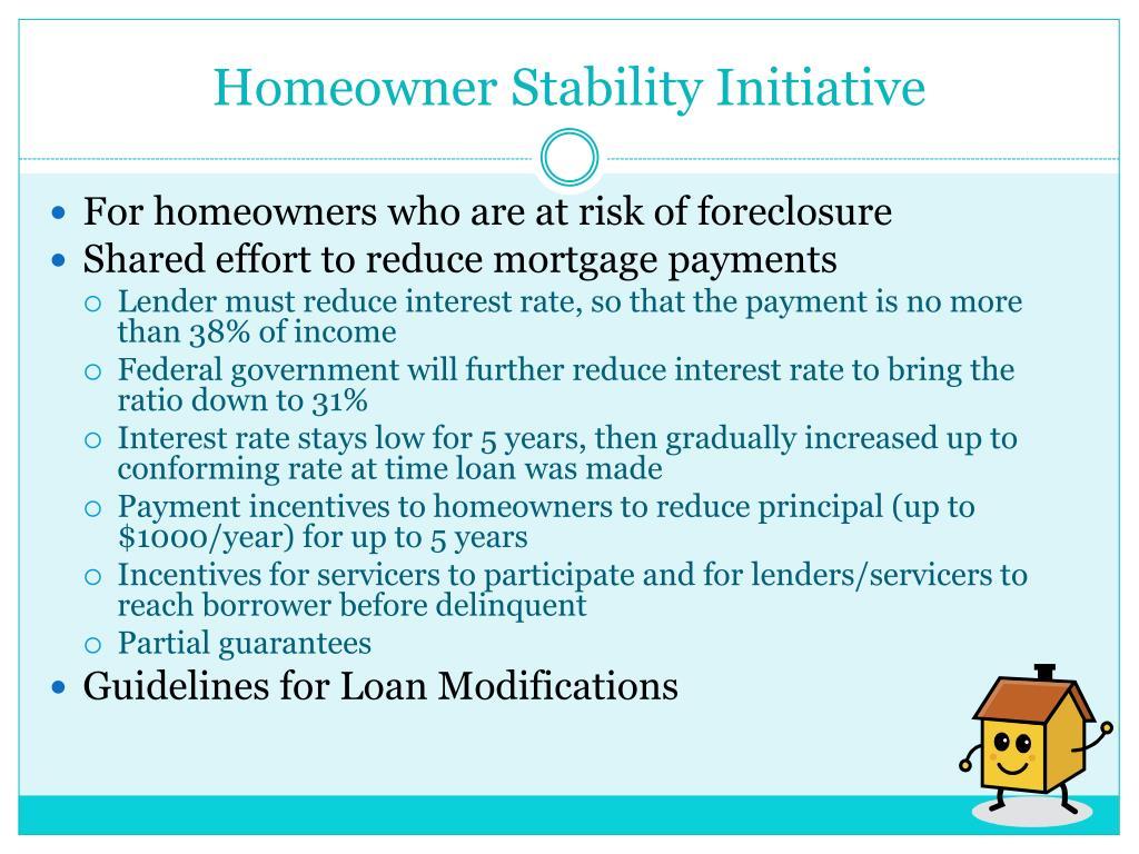 Homeowner Stability Initiative