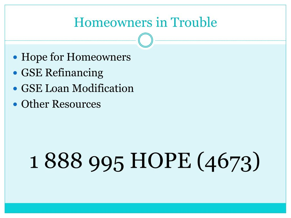 Homeowners in Trouble