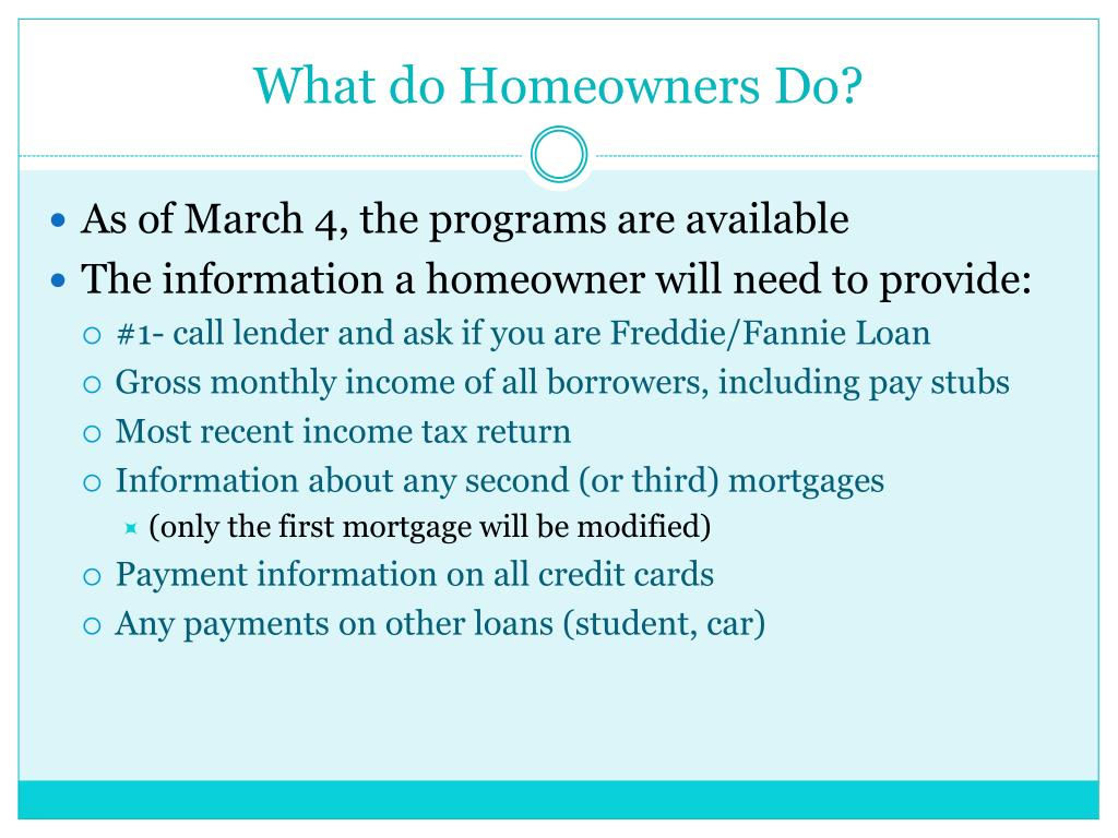 What do Homeowners Do?