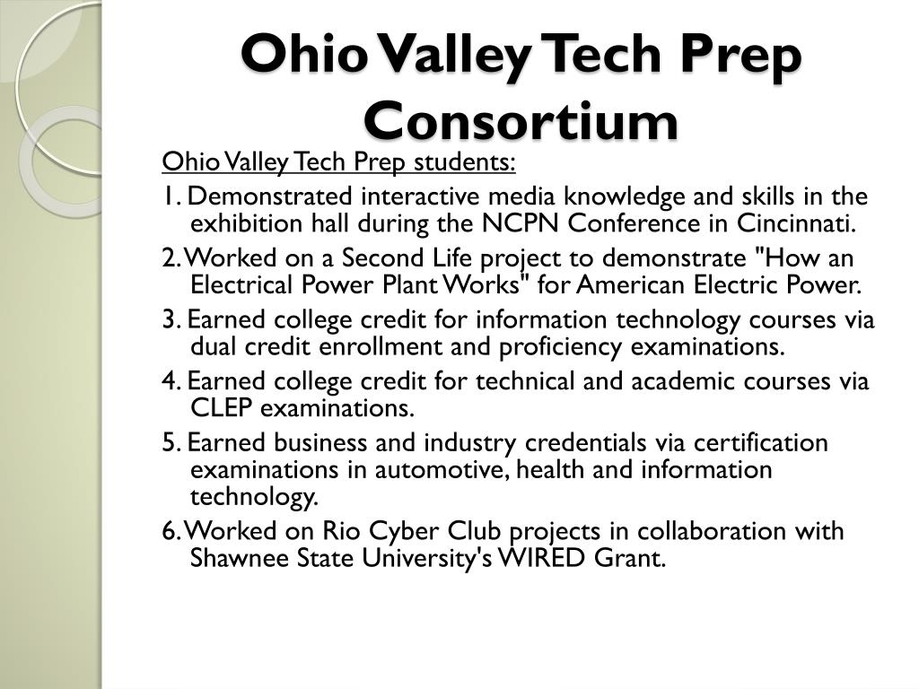 Ohio Valley Tech Prep Consortium