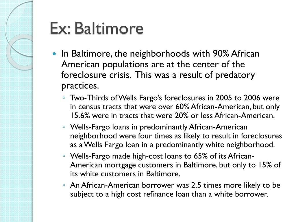 Ex: Baltimore