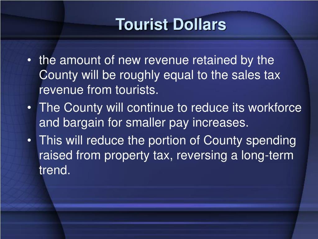 Tourist Dollars