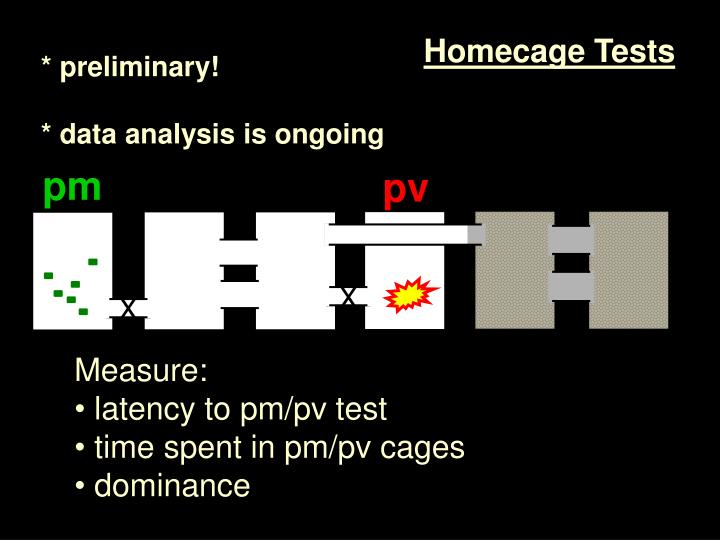 Homecage Tests