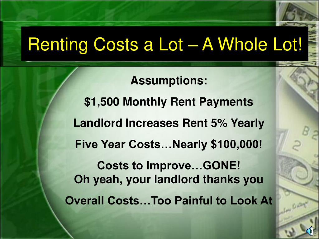 Renting Costs a Lot – A Whole Lot!