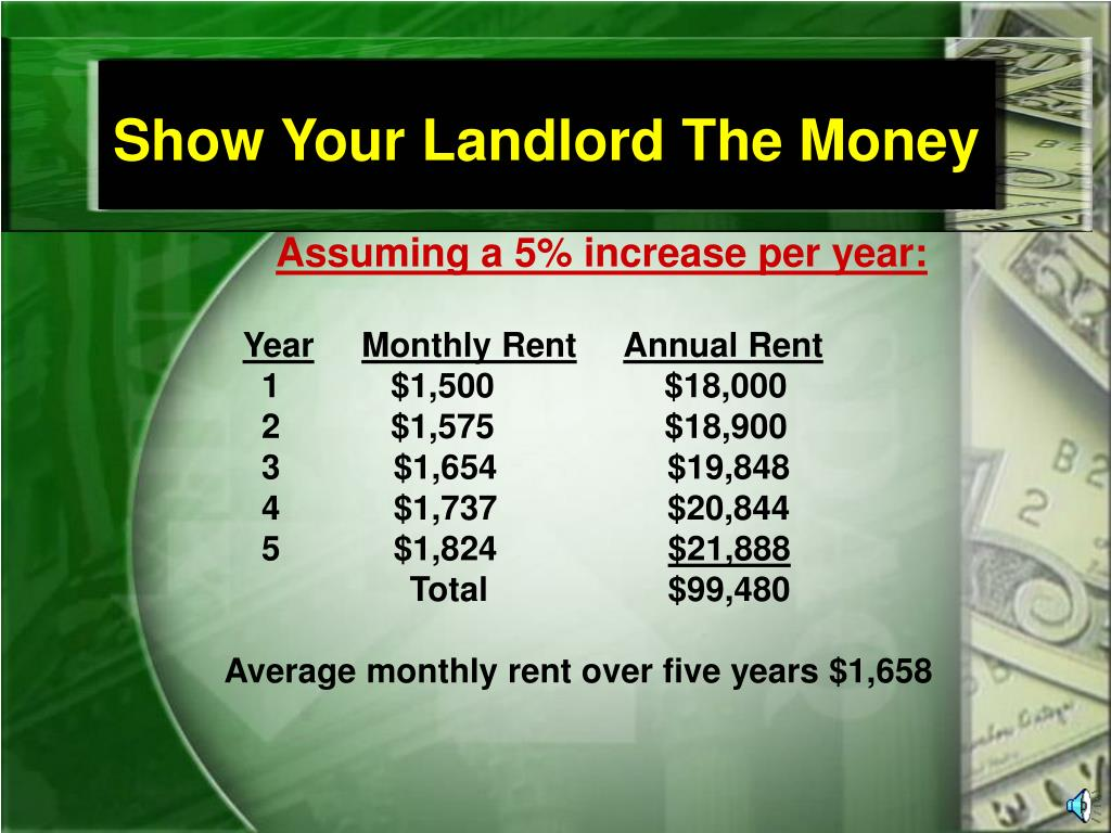 Show Your Landlord The Money