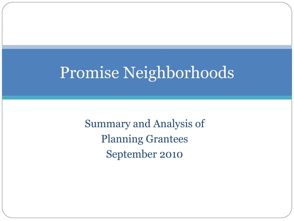 Promise Neighborhoods