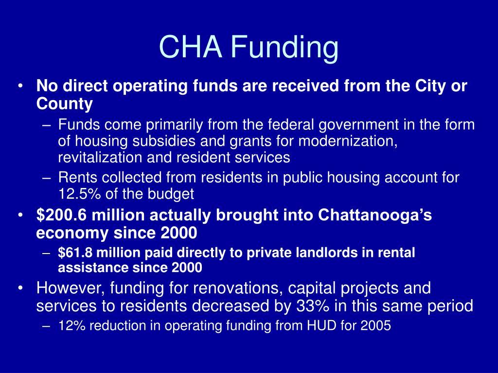 CHA Funding