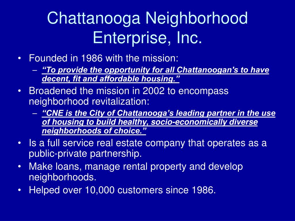 Chattanooga Neighborhood Enterprise, Inc.