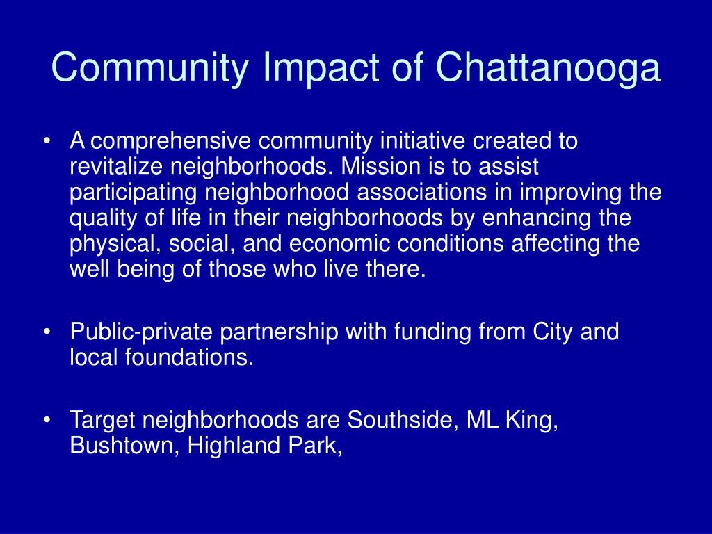 Community Impact of Chattanooga