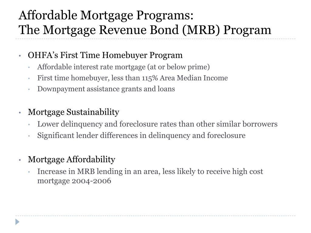 Affordable Mortgage Programs:
