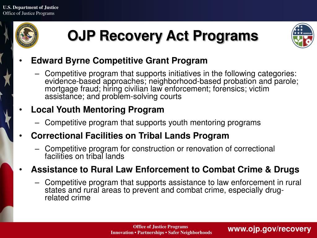 OJP Recovery Act Programs