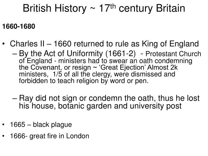 British History ~ 17