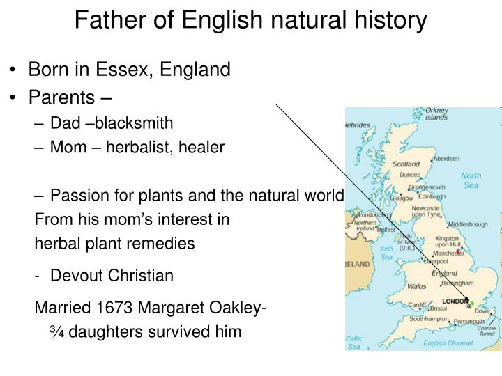 Father of english natural history