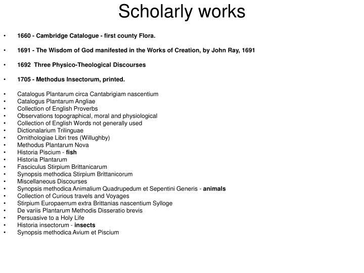 Scholarly works