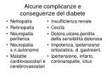 alcune complicanze e conseguenze del diabete