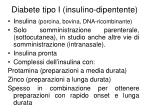 diabete tipo i insulino dipentente