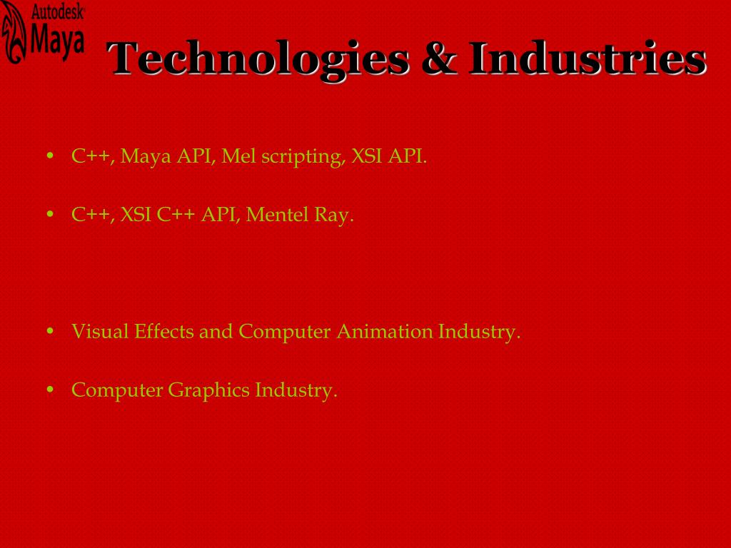 Technologies & Industries