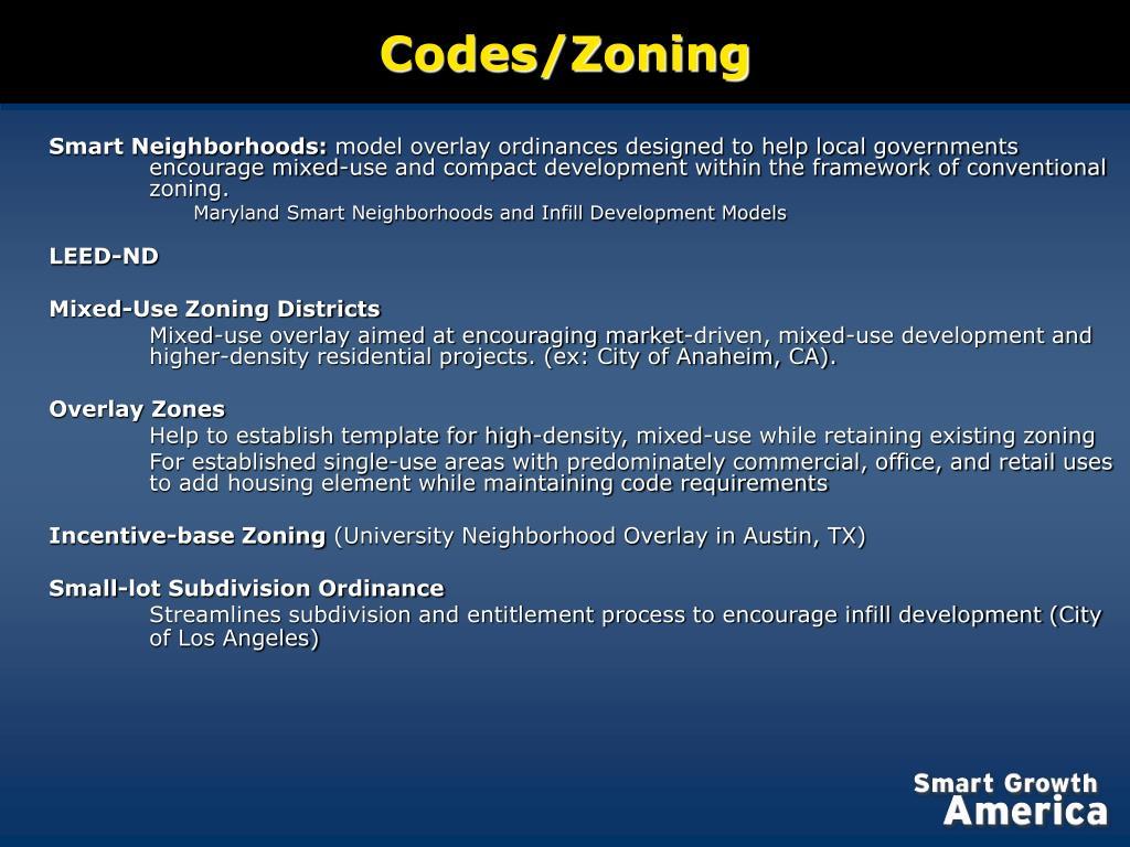 Codes/Zoning