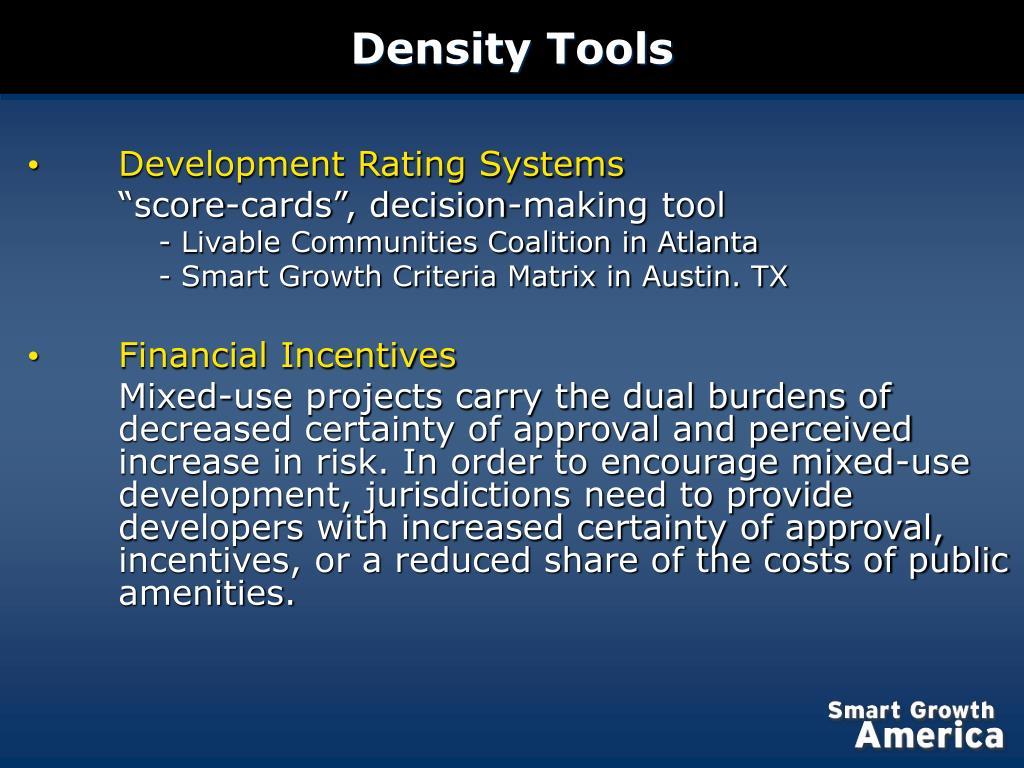 Density Tools