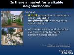 is there a market for walkable neighborhoods