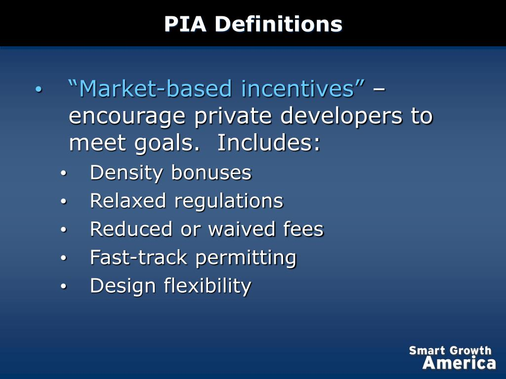 PIA Definitions